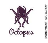 octopus logo | Shutterstock .eps vector #500160529
