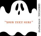 vector halloween ghost...   Shutterstock .eps vector #500160880