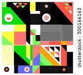 trendy geometric elements... | Shutterstock .eps vector #500166163