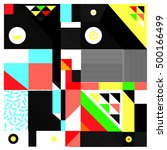 trendy geometric elements... | Shutterstock .eps vector #500166499