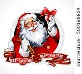 vector vintage christmas badge... | Shutterstock .eps vector #500168824