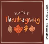 thanksgiving card with autumn... | Shutterstock .eps vector #500173306