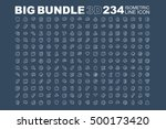 big bundle of 3d isometric line ... | Shutterstock .eps vector #500173420