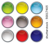 nine web icon buttons with... | Shutterstock . vector #50017405