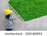 little girl engineering ideas... | Shutterstock . vector #500180854