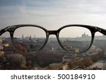 clear vision through glasses | Shutterstock . vector #500184910