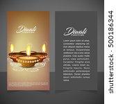 illustration of burning diya on ... | Shutterstock .eps vector #500186344