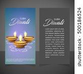 illustration of burning diya on ... | Shutterstock .eps vector #500186524