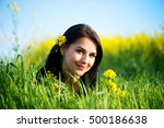 portrait of beautiful young... | Shutterstock . vector #500186638