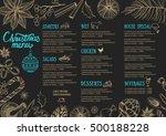 christmas restaurant brochure ...   Shutterstock .eps vector #500188228
