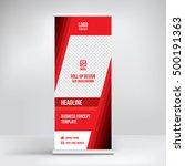 banner roll up design  business ... | Shutterstock .eps vector #500191363