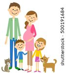 the family who looks forward to ... | Shutterstock .eps vector #500191684