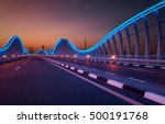amazing night dubai vip bridge...   Shutterstock . vector #500191768