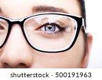 beautiful young woman wearing... | Shutterstock . vector #500191963