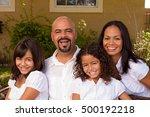 happy hispanic family. | Shutterstock . vector #500192218