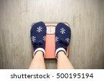 girl standing on floor vysah... | Shutterstock . vector #500195194