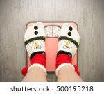 girl standing on floor vysah... | Shutterstock . vector #500195218
