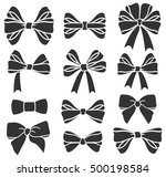 vector set of  bows silhouettes | Shutterstock .eps vector #500198584