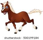 Illustration Of Happy Horse...
