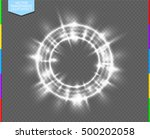 vector round shiny frame with... | Shutterstock .eps vector #500202058