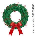 abstract christmas illustration ... | Shutterstock . vector #500203180
