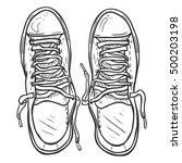 vector sketch illustration  ... | Shutterstock .eps vector #500203198