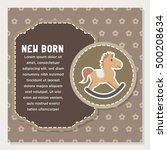 baby shower  new born baby card ... | Shutterstock .eps vector #500208634
