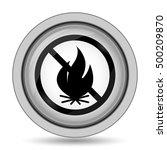 fire forbidden icon. internet...   Shutterstock . vector #500209870