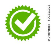 tick approval star icon vector... | Shutterstock .eps vector #500211328