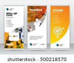 orange briefcase person target... | Shutterstock .eps vector #500218570