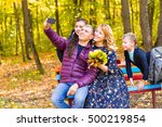 smiling young family taking... | Shutterstock . vector #500219854