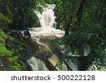 knyvet falls in cradle mountain ...   Shutterstock . vector #500222128