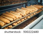 baked breads on the production... | Shutterstock . vector #500222680