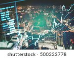 close up of finance business... | Shutterstock . vector #500223778