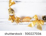 brilliant gold baubles  like... | Shutterstock . vector #500227036