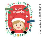 little girl. vector... | Shutterstock .eps vector #500228914