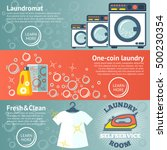 set of laundry banners with... | Shutterstock .eps vector #500230354