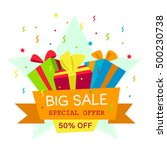 vector illustration. big sale... | Shutterstock .eps vector #500230738