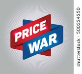 price war arrow tag sign. | Shutterstock .eps vector #500234350