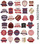 set of thirty vector badges... | Shutterstock .eps vector #500235946