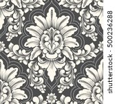 vector damask seamless pattern... | Shutterstock .eps vector #500236288