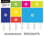 vector calendar october  2017... | Shutterstock .eps vector #500236474