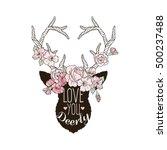 artwork with deer head... | Shutterstock .eps vector #500237488