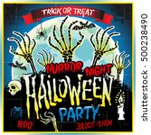 halloween party horror night... | Shutterstock . vector #500238490