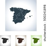 map of spain | Shutterstock .eps vector #500241898