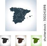 map of spain | Shutterstock .eps vector #500241898