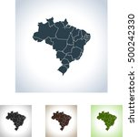 map of brazil | Shutterstock .eps vector #500242330