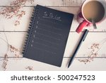 to do list notebook with red... | Shutterstock . vector #500247523