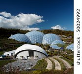 Small photo of Eden Project in St. Austel, Cornwall, England.