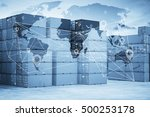 map global logistics... | Shutterstock . vector #500253178